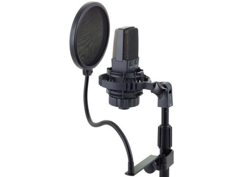 Akg C414 With Anti Pop On Stand