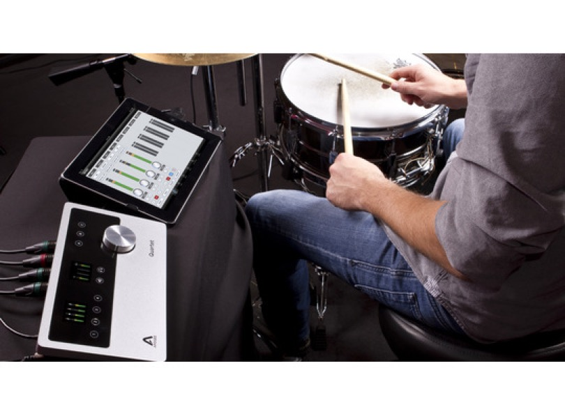 Apogee Quartet For Ipad Mac With Ipad And Drums