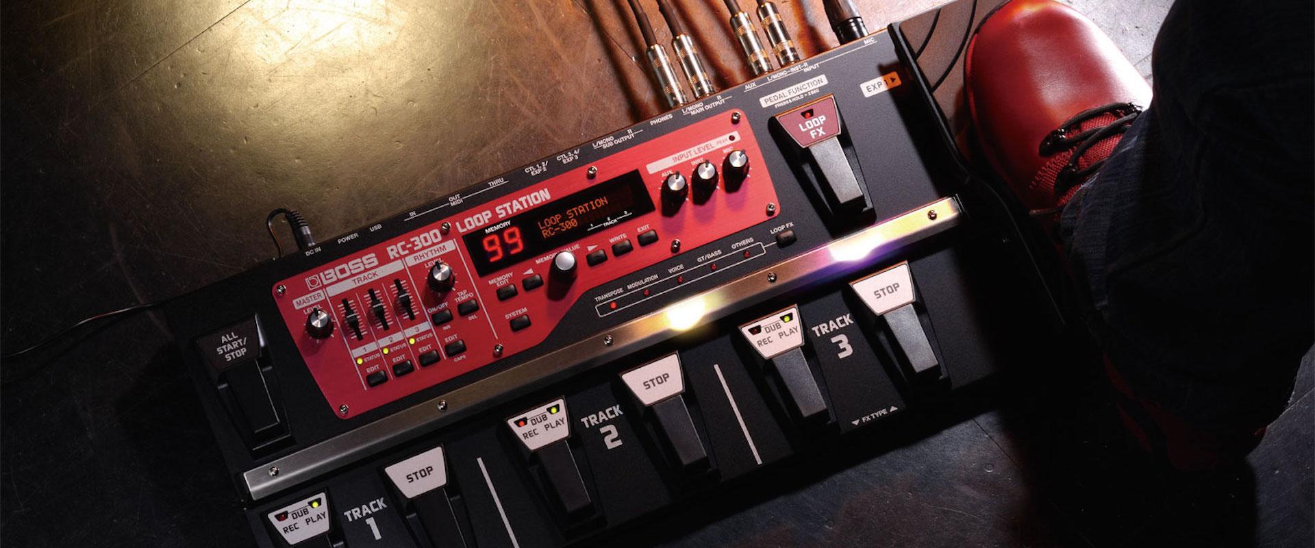Music City offre une Boss RC-300 au gagnant du concours WIP Music 2017
